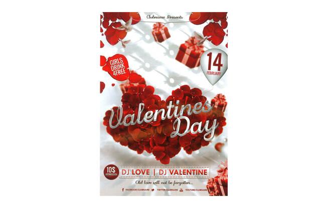 花店——情人节宣传创意海报设计