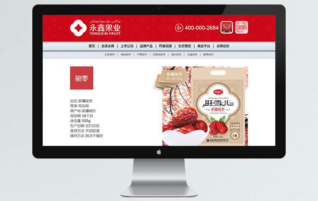 新疆永鑫果业股份无限公司 网站设想