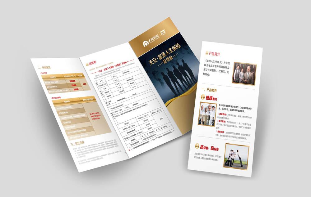 天安财产保险宣传画册设计制作