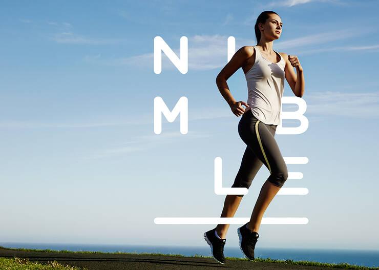nimblen女子运动品牌形象图片