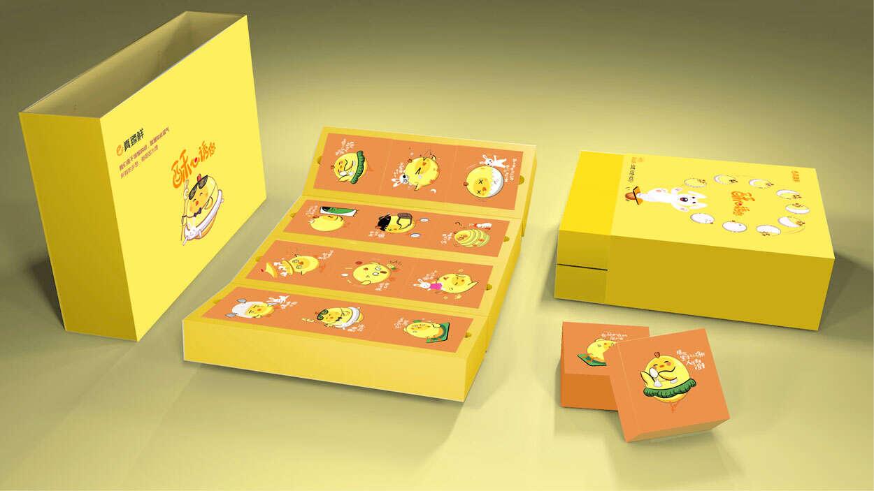 真臻鲜蛋黄酥产品包装设计-食品包装设计-顶新集团旗下品牌
