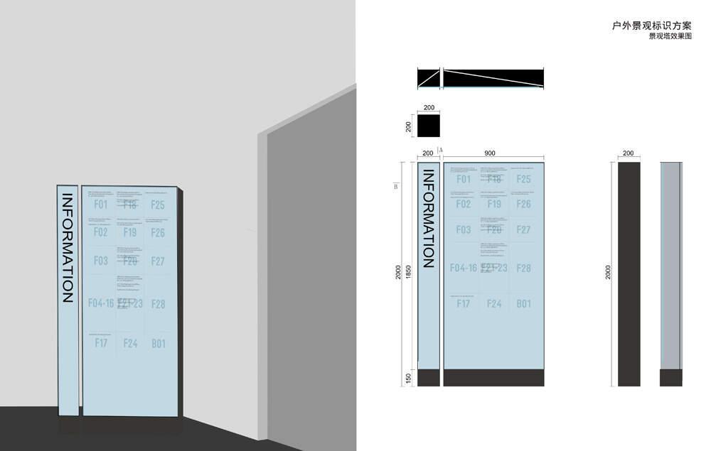 广场导视系统设计