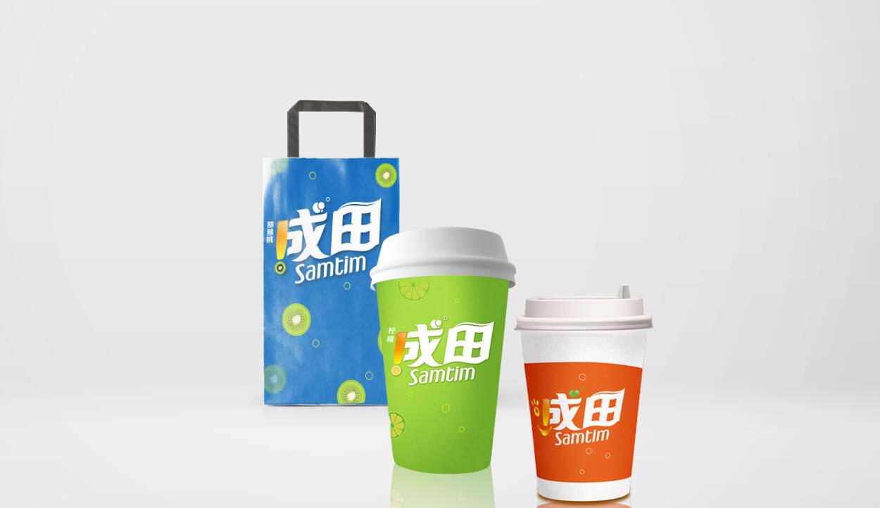 现调饮料品牌logo设计