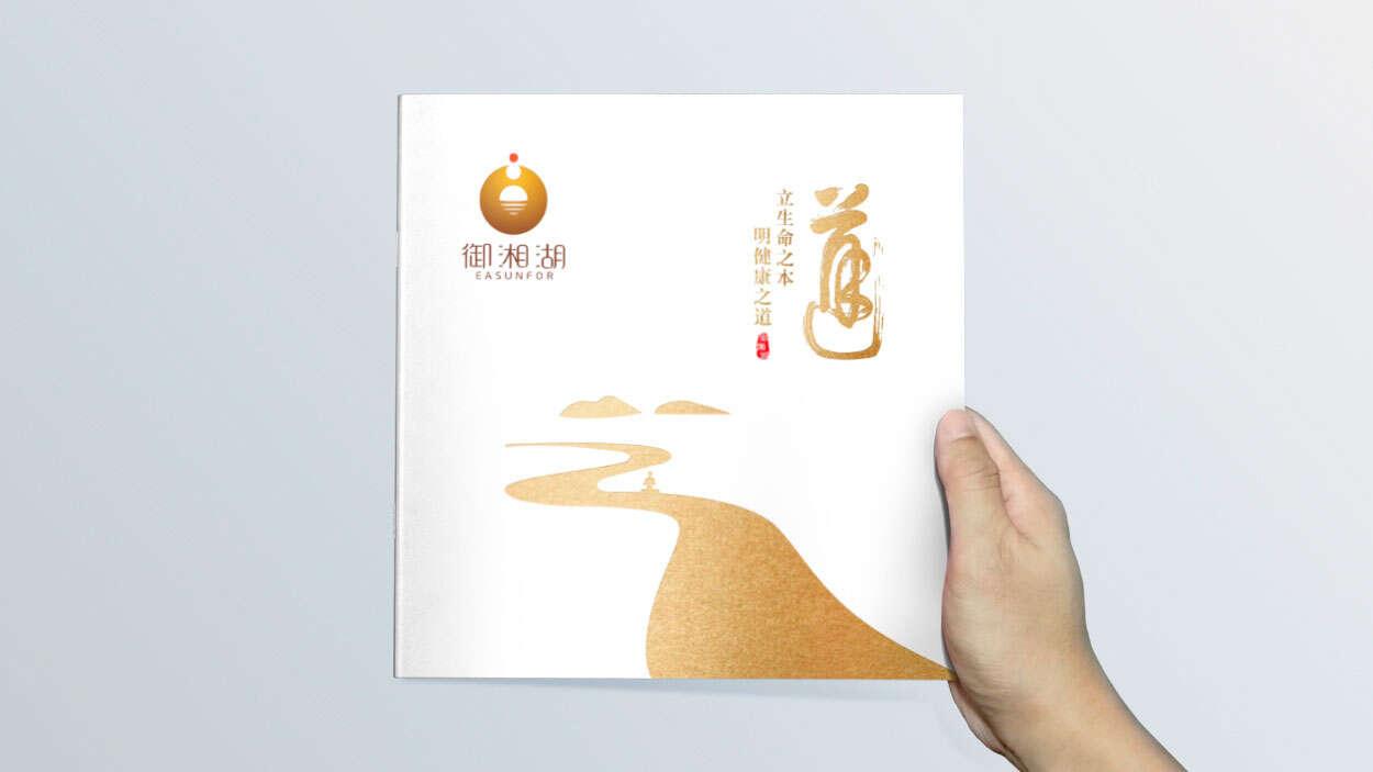 产业园宣传册设计|招商画册设计-湘湖健康产业园样本册设计