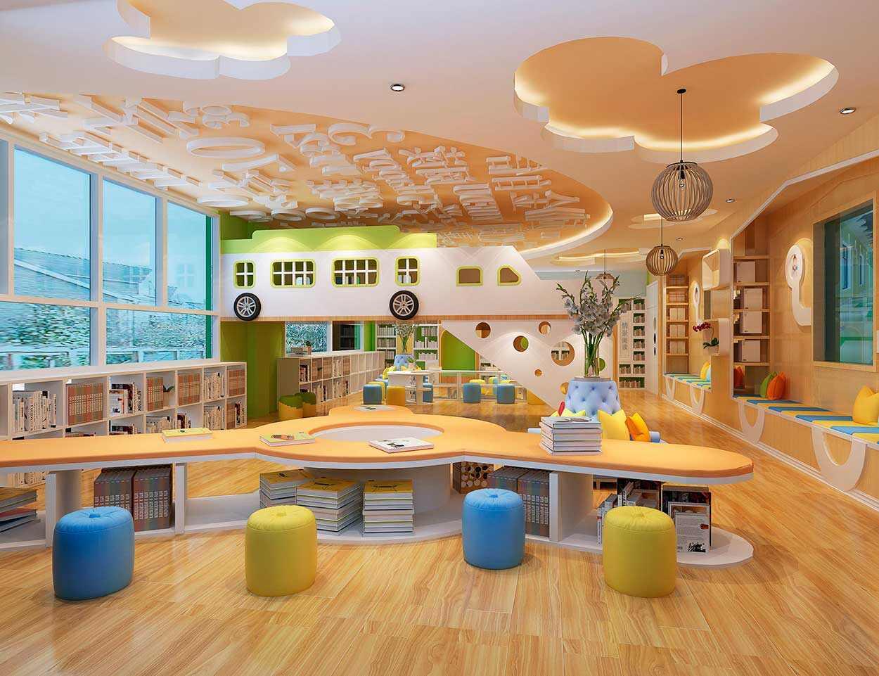 学校教室布置设计|观星者早教教学楼SI空间设计
