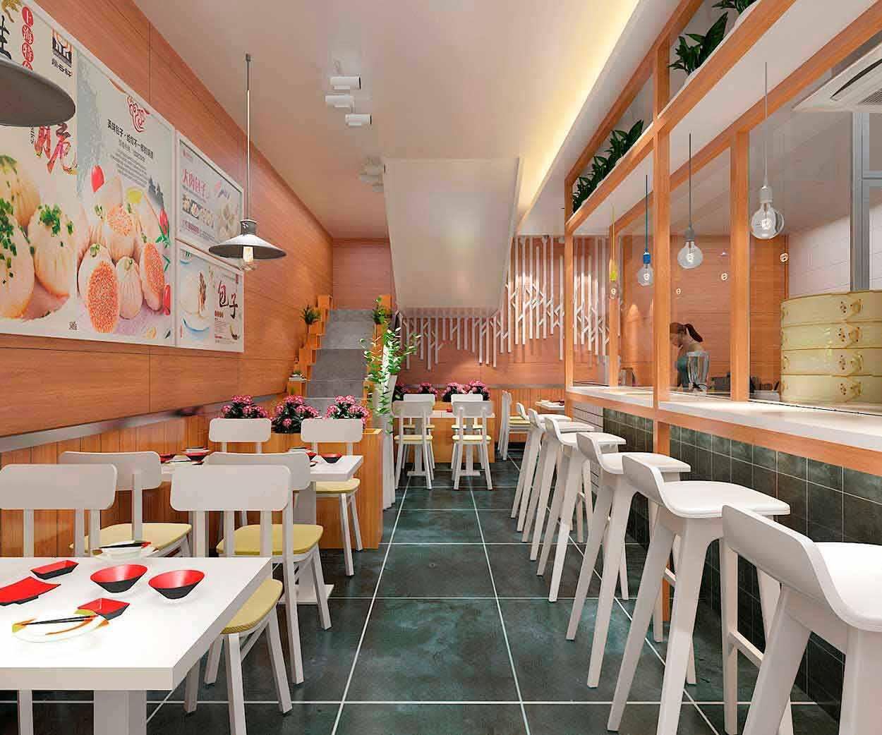 餐饮店设计|加盟店空间设计-功夫大包SI形象设计