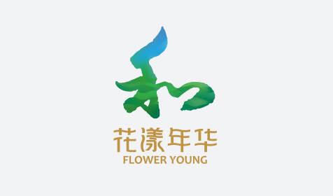 花漾年华绿色小镇品牌形象亿博体育直播-休闲旅游生态主题品牌logo标志VI亿博体育直播